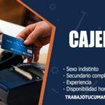 cajeros para empresa comercial trabajo tucuman