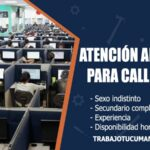 atencion al cliente para call center trabajo tucuman