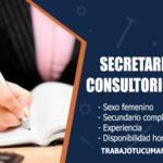 secretaria para consultorio medico trabajo tucuman