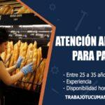 atencion al cliente para panaderia trabajo tucuman