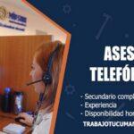 asesores telefonicos para empresa comercial trabajo tucuman