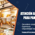 atencion al publico para panaderia trabajo tucuman